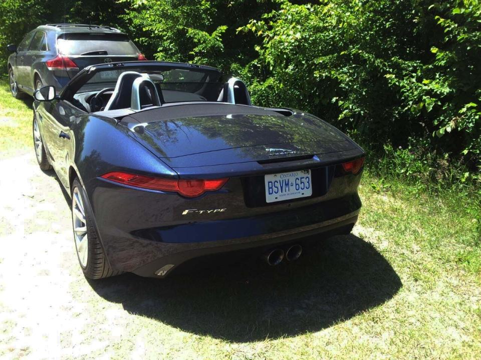 The 2014 Jaguar F-Type convertible.