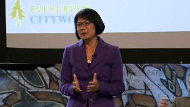 Olivia Chow speaks during a mayoral debate hosted by CivicAction Sunday September 14, 2014.