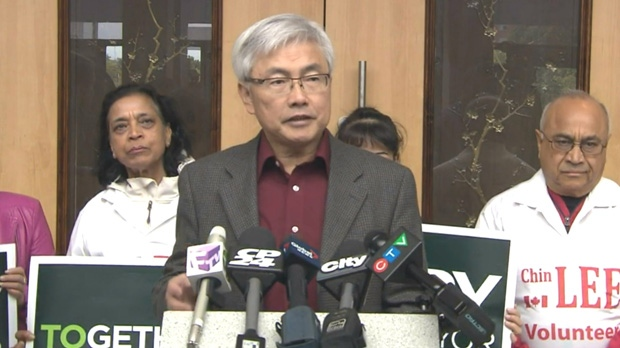 Scarborough-Rouge Valley Coun. Chin Lee endorsed mayoral candidate John Tory on Monday morning.