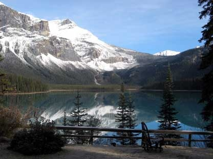Emerald Lake in Yoho National Park is seen on a calm day in this Oct. 22, 2009, photo. (THE CANADIAN PRESS/Bill Graveland)