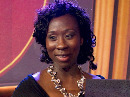 In this Nov. 8, 2011, photo, Esi Edugyan accepts the Giller Prize in Toronto. (THE CANADIAN PRESS/Chris Young)