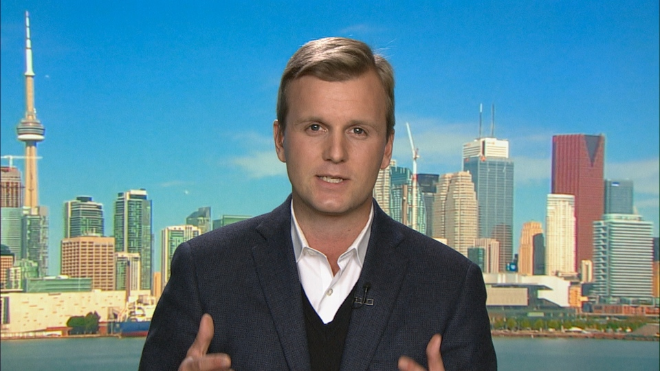 Toronto city council candidate Joe Cressy is seen in the CP24 studio on Friday, Oct. 24, 2014.