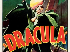 "This photo provided by Heritage Auctions in Dallas shows a movie poster for the 1931 film ""Dracula"" starring Bela Lugosi. This and other rare classic movie theatre posters found in a northeastern Pennsylvania attic are scheduled to go to auction March 23, 2012. (AP Photo/Heritage Auctions)"