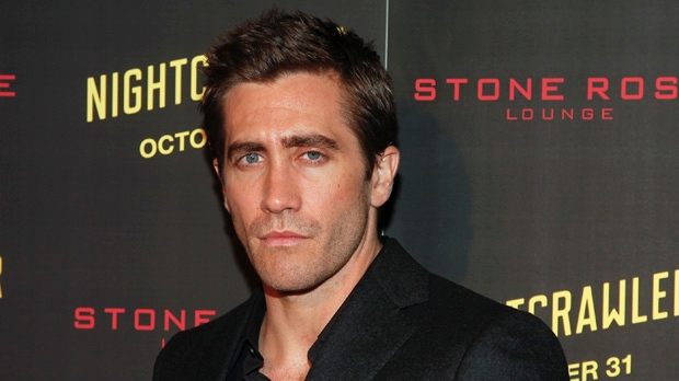 """Jake Gyllenhaal attends the New York premiere of """"Nightcrawler"""" on Monday, Oct. 27, 2014, in New York. (Photo by Andy Kropa/Invision/AP)"""