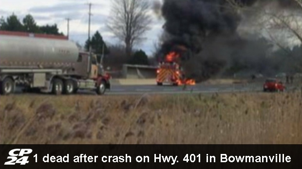 401 closed in Bowmanville after serious crash | CP24 com