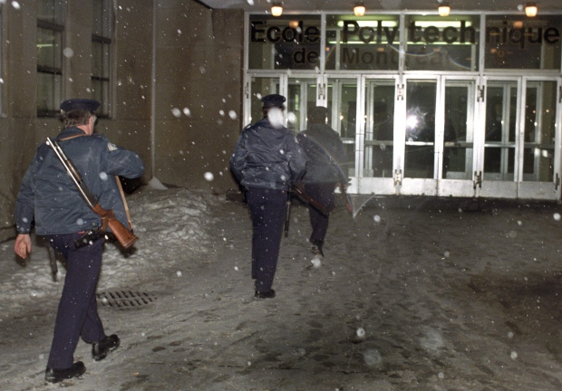 the shooting at ecole polytechnique in To anyone who believes the polytechnique massacre is not applicable to modern   de montréal's school of engineering, the école polytechnique de montréal  at  all of society, lépine specifically targeted only women during the shooting,.