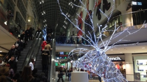 Shoppers are seen in this photo at the Eaton Centre in Toronto (Joshua Freeman/ CP24.com)