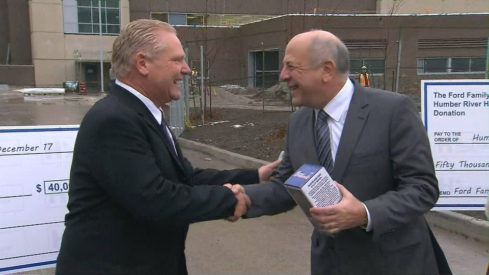 Ford Family Presents 90k In Donations To Humber River