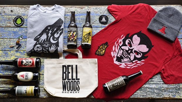 A selection of gifts available at the Bellwoods Brewery.