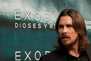 "FILE - In this file photo taken Thursday, Dec. 4, 2014, English actor Christian Bale poses for photographers during the premiere of the film ""Exodus"" in Madrid. Egypt on Sunday, Dec. 28, said it banned Ridley Scott's biblical epic ""Exodus: Gods & Kings"" because the Hollywood blockbuster distorts Egypt's history and presents a ""racist"" image of Jews. The Culture Ministry explained its decision for the first time in a statement issued a few days after the ban was announced. (AP Photo/Abraham Caro Marin, File)"