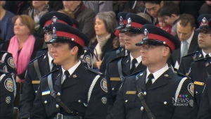 Toronto police recruits