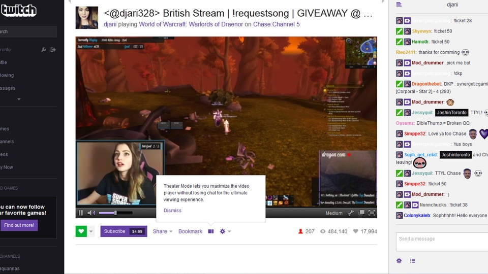 A Twitch broadcast is pictured in this screen grab.