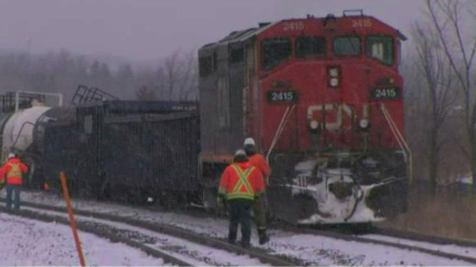 No injuries after freight train derails in Richmond Hill | CP24.com