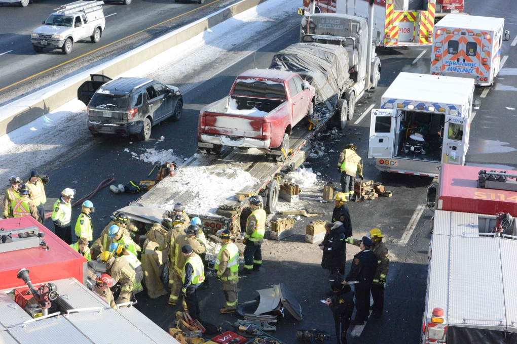 Police update on fatal accident on Hwy  401 | CP24 com