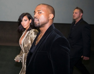 Kim Kardashian and Kanye West attend the 57th Annual Grammy Awards Official After Party on Sunday, Feb. 8, 2015 in Los Angeles. (Photo by Colin Young-Wolff/Invision/AP)