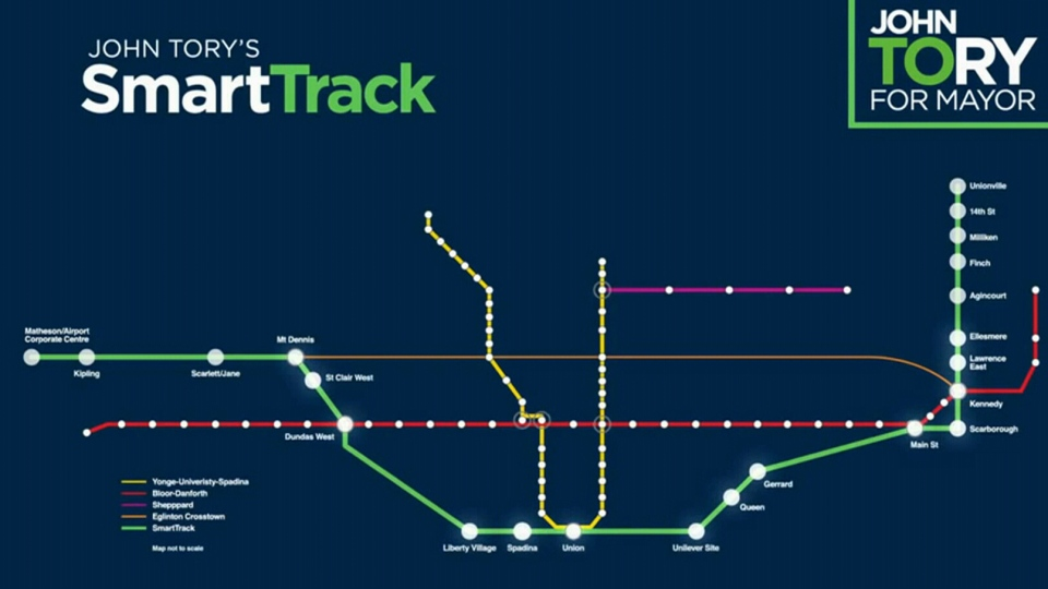 Smart Track Map SmartTrack will be ready in 'the early 2020s:' Tory | CP24.com