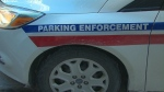 A parking enforcement vehicle is shown in an undated file photo.