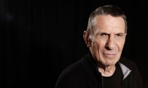 Actor Leonard Nimoy poses for a portrait in Beverly Hills, Calif. on Sunday, April 26, 2009. (AP Photo/Matt Sayles)