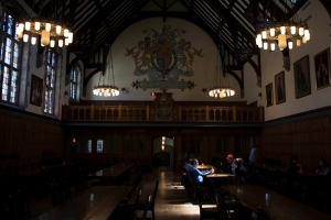 A general view of the dining room at Trinity College at the University of Toronto on Thursday, April 24, 2014. (The Canadian Press/Chris Young)