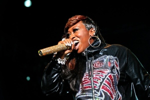 Singer, Missy Elliott, performs at Padang Stage, on Friday, Sept. 24, 2010 in Singapore.(AP Photo/Joan Leong)