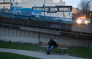 "The Burrard Iron Works building and the Main Street overpass, filming locations for the movie ""Fifty Shades of Grey"", are seen in Vancouver, B.C., on Wednesday March 4, 2015. THE CANADIAN PRESS/Darryl Dyck"