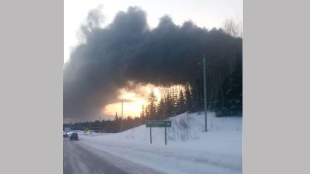 Gogama crude oil train derailment