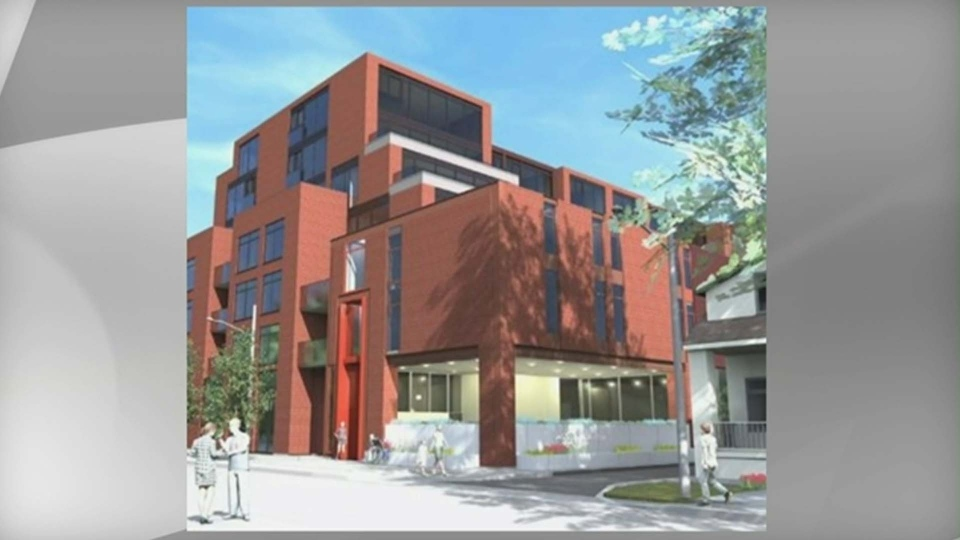 An artist's rendering of a new building for the Red Door Family Shelter is shown in this handout photo.
