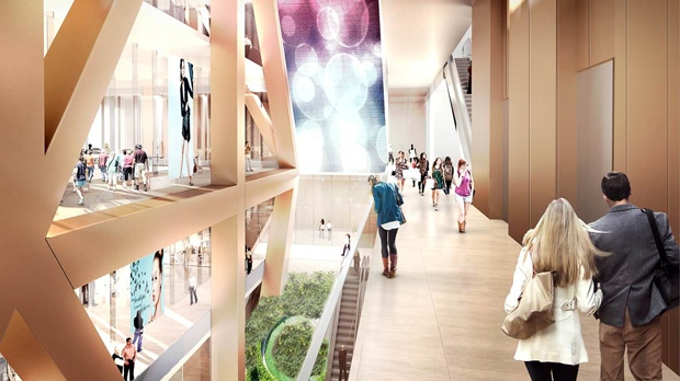 An artist rendering shows what a proposed 80-storey condo tower at Yonge and Bloor will look like.