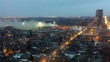 Brampton hospital site fire