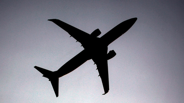 A plane approaches Duesseldorf airport, Germany, on Tuesday, April 20, 2010. (AP /Frank Augstein)