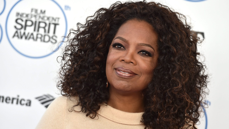 Oprah Winfrey arrives at the 30th Film Independent Spirit Awards on Saturday, Feb. 21, 2015, in Santa Monica, Calif. (Photo by Jordan Strauss/Invision/AP)
