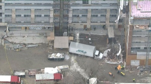 Scaffolding at a condo development on Bloor Street collapsed on March 27, 2015.