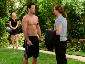 """This photo released by ABC shows Ryan Paevey as Nathan, center, Zachary Garred as Levi, right, and Kirsten Storms as Maxie, in a scene from ABC Daytime's """"General Hospital,"""" which airs Monday-Friday (2:00 p.m. - 3:00 p.m., ET) on the ABC Television Network. (AP Photo/ABC, Todd Wawrychuk)"""
