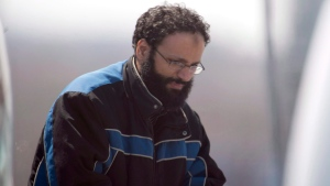 Chiheb Esseghaier arrives at Buttonville Airport just north of Toronto on Tuesday, April 23, 2013. (Frank Gunn / THE CANADIAN PRESS)