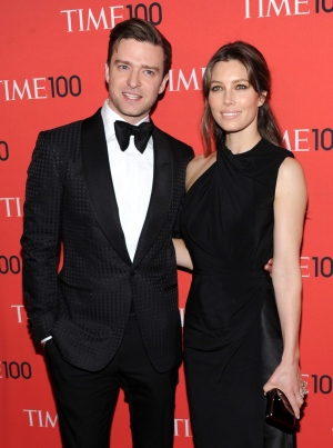 "FILE - In this Tuesday April 23, 2013 file photo, actor and singer Justin Timberlake and wife, actress Jessica Biel, attend the TIME 100 Gala in New York. Timberlake shared a picture of a bulging belly - presumably belonging to wife - on Instagram on Saturday, Jan. 31, 2015, his 34th birthday. He wrote that he was getting the greatest gift ever this year and added: ""CAN'T WAIT."" (Photo by Evan Agostini/Invision/AP)"
