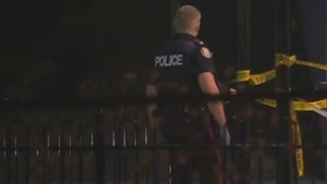 Police investigate a shooting in the Birchmount Road and St Clair Avenue East area Friday April 17, 2015.