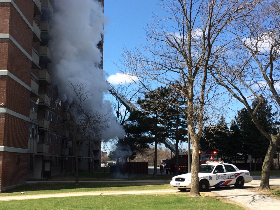 Three Alarm Highrise Fire Near Jane And Finch Sends