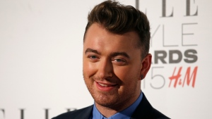 Singer Sam Smith is pictured. (AFP PHOTO / JUSTIN TALLIS)