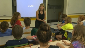 An elementary school teacher is shown in a file photo.
