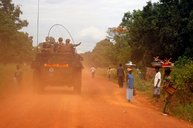 French soldiers Africa