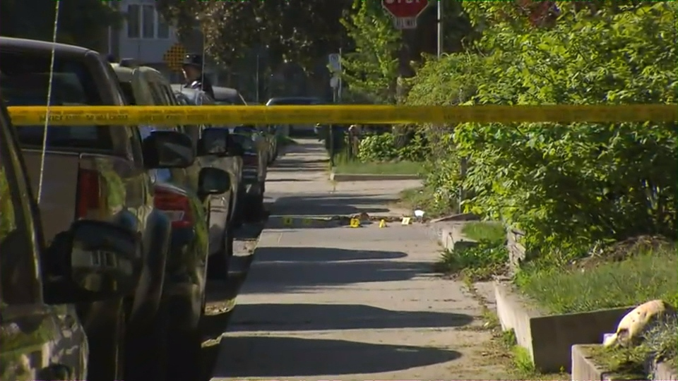 Police say a 33-year-old man was gunned down on Campbell Street in the Junction Triangle on Wednesday night.