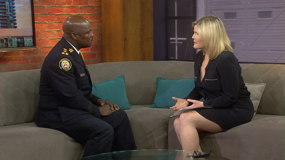 New Toronto Police chief Mark Saunders in conversation with CP24's Stephanie Smyth.