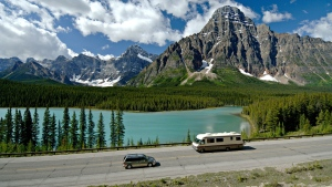 Alberta's Icefields Parkway is seen in this undated image.