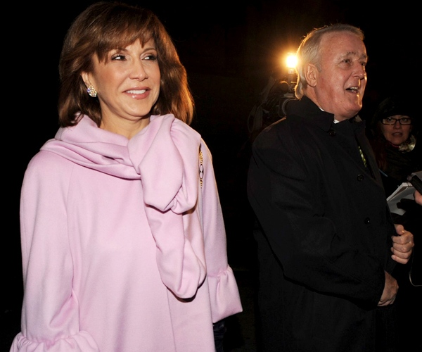 Former prime minister Brian Mulroney and his wife Mila arrive for the wedding of their son Ben Mulroney in Montreal on Thursday Oct. 30, 2008. (Graham Hughes / THE CANADIAN PRESS)