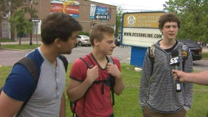 Students in Mississauga tell CP24's Cam Woolley about the mood at their high school as classes resumed Wednesday after more than one month.