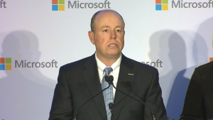 Microsoft Chief Operating Officer Kevin Turner is shown during a news conference at the Delta Toronto on Tuesday.