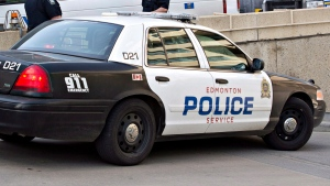 An Edmonton police car is seen on Wednesday, May 22, 2013. (The Canadian Press/Jason Franson)