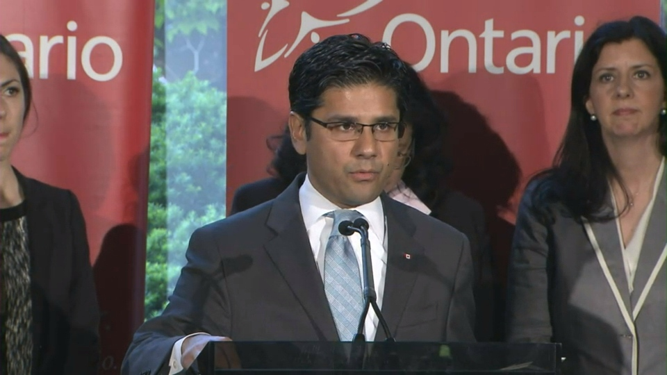 Ontario Minister of Community Safety and Correctional Services Yasir Naqvi speaks about the Police Record Check Reform Act at a press conference Wednesday morning.