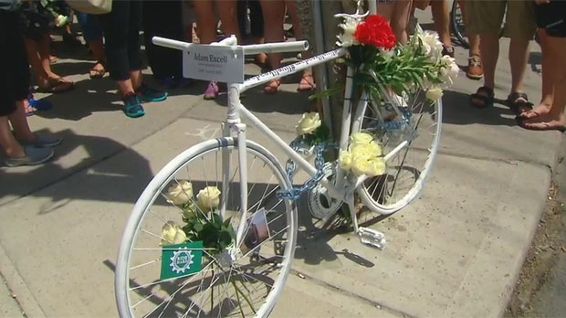 Adam Excell was killed while riding his bike in Yorkville on June 13.