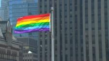 Rainbow flag raised at city hall